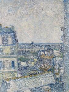 View from the Artist's Window, Rue Lapic, c.1887 by Vincent van Gogh