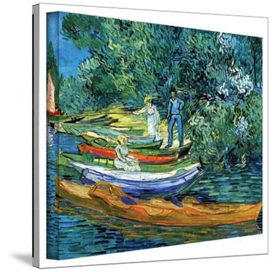 Vincent van Gogh 'Bank of The Oise at Auver' Wrapped Canvas Art