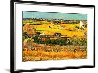 Vincent van Gogh Harvest at La Crau with Montmajour in the Background