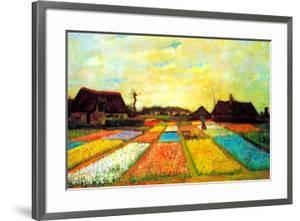 Vincent van Gogh Holland Flower Bed by Vincent van Gogh