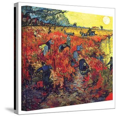 Vincent van Gogh 'Red Vineyard at Arles' Wrapped Canvas