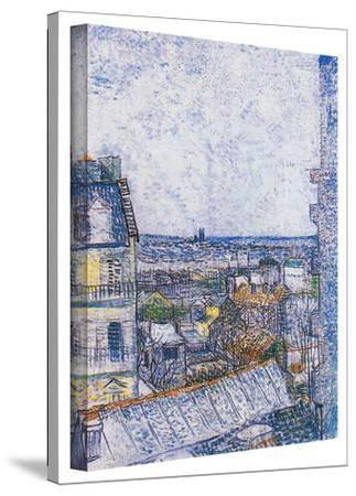 Vincent van Gogh 'Wall Paris from Vincent's Room' Wrapped Canvas Art