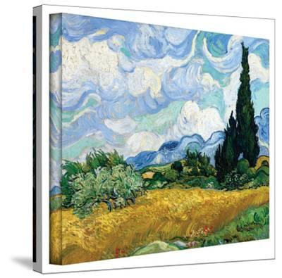 Vincent van Gogh 'Wheatfield with Cypresses' Wrapped Canvas by Vincent van Gogh