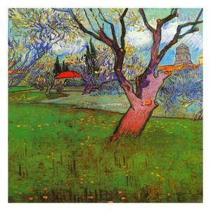 Vue D'Arles Avec Arbres En Fleurs by Vincent van Gogh