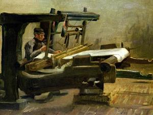 Weaver at the Loom, Facing Right, 1884 by Vincent van Gogh