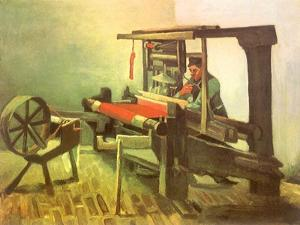 Weaver Facing Left, with Spinning Wheel, 1884 by Vincent van Gogh