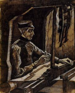 Weaver Facing Right by Vincent van Gogh
