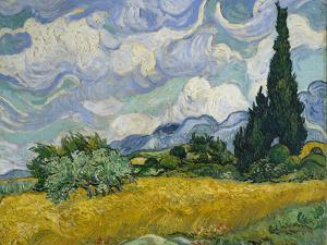 Wheat Field with Cypresses, 1889 by Vincent van Gogh