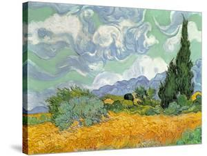 Wheatfield with Cypresses, 1889 by Vincent van Gogh