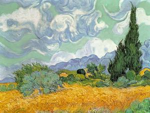 Wheatfield with Cypresses, c.1889 by Vincent van Gogh