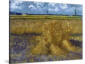 Wheatfield with Sheaves, c.1888 by Vincent van Gogh