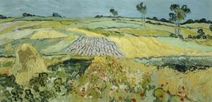 Wheatfields Near Auvers-Sur-Oise, 1890 by Vincent van Gogh