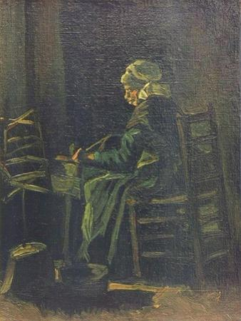 Woman at the Spinning Wheel, 1885 by Vincent van Gogh