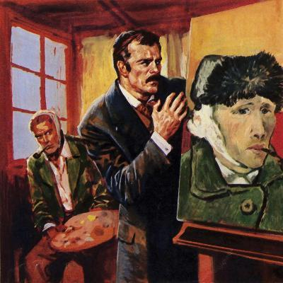 Vincent Van Gogh Wounded His Own Ear - Famously Painting a Portrait of Himself in Bandages--Giclee Print