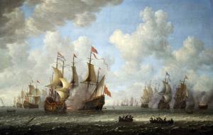 A Battle at Sea by Vincente Carducho