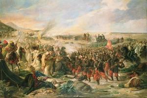 The Battle of Tetouan in 1860, 1870 by Vincente Gonzalez Palmaroli