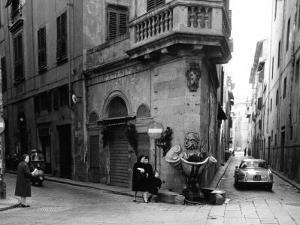 Corner of Borgo San Iacopo and Via Dello Sprone in Florence by Vincenzo Balocchi