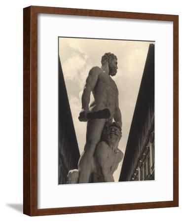 Hercules and Cacus, Statue by Baccio Bandinelli, Conserved in the Piazza Della Signoria in Florence