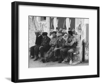 Men on a Bench in Saint Tropez