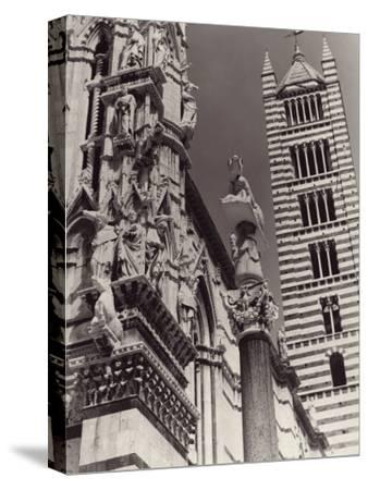 The Bell Tower and Part of the Cathedral's Facade, Siena