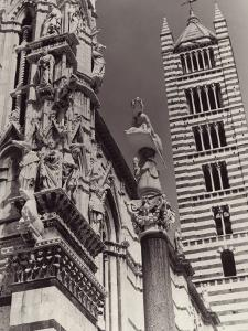 The Bell Tower and Part of the Cathedral's Facade, Siena by Vincenzo Balocchi