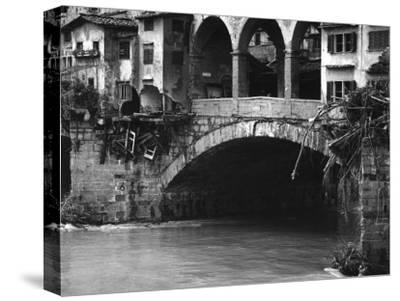 The Ponte Vecchio Half Destroyed after the Flood in Florence