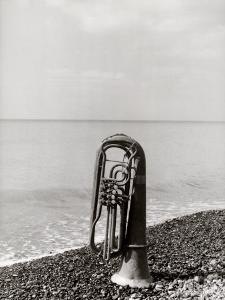 Trombone Resting on the Rocks at the Edge of the Sea by Vincenzo Balocchi