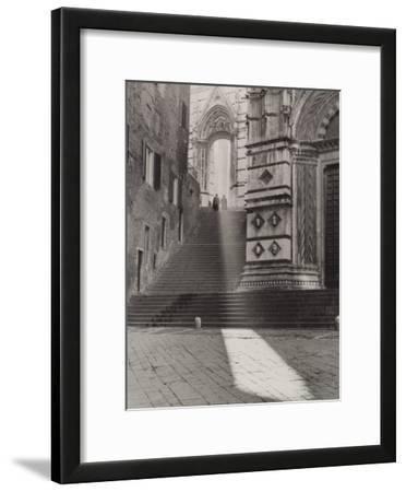 View of the Flight of Steps That Takes to the Piazza San Giovanni, Siena