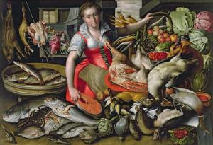 Martha Preparing the Meal for Jesus or Jesus at the House of Martha and Mary by Vincenzo Campi