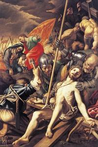 Christ Being Nailed to the Cross, 1577 by Vincenzo Coronelli