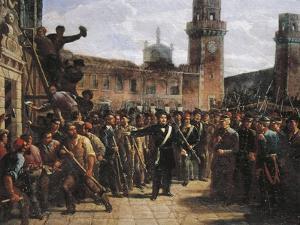 Daniele Manin Demands Austrian Surrender of the Venetian Arsenal, 1848 by Vincenzo Coronelli