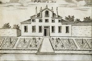 Former Villa Pisani in Stra, 1697 by Vincenzo Coronelli