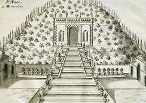 Garden at Villa Nani Mocenigo in Monselice, 1697 by Vincenzo Coronelli