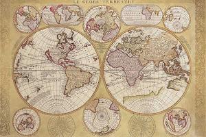 Le Globe Terrestre by Vincenzo Coronelli