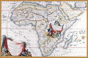 Map of Africa by Vincenzo Coronelli