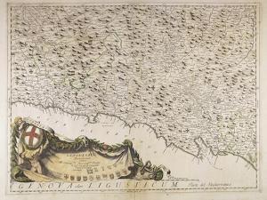 Map of Eastern Liguria Region, 1690 by Vincenzo Coronelli