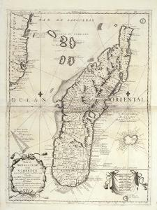 Map of Madagascar Island by Vincenzo Coronelli