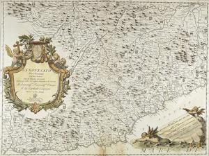 Map of Western Liguria Region by Vincenzo Coronelli