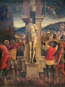 Martyrdom of Saint Sebastian by Vincenzo Foppa