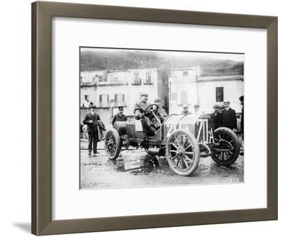 Vincenzo Lancia Taking Part in the Targa Florio Race, Sicily, April 1907