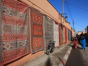Carpets for Sale in the Street, Marrakech, Morocco, North Africa, Africa by Vincenzo Lombardo