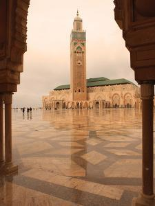 Hassan II Mosque Through Archway, Casablanca, Morocco, North Africa, Africa by Vincenzo Lombardo