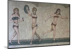 Mosaic, Villa Romana Del Casale, Piazza Armerina, UNESCO World Heritage Site, Sicily, Italy, Europe by Vincenzo Lombardo