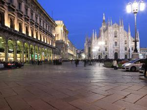 Piazza Duomo at Dusk, Milan, Lombardy, Italy, Europe by Vincenzo Lombardo