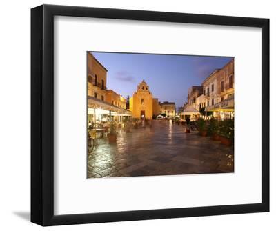 Piazza Matrice at Dusk, Trapani, Favignana Island, Sicily, Italy, Europe