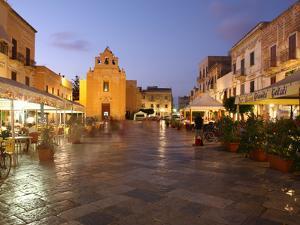 Piazza Matrice at Dusk, Trapani, Favignana Island, Sicily, Italy, Europe by Vincenzo Lombardo
