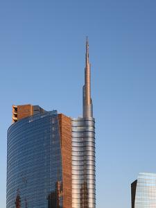 Skyscraper at Sunset, Garibaldi District, Milan, Lombardy, Italy, Europe by Vincenzo Lombardo