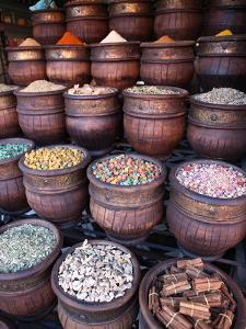 Spice Shop, Marrakech, Morocco, North Africa, Africa by Vincenzo Lombardo