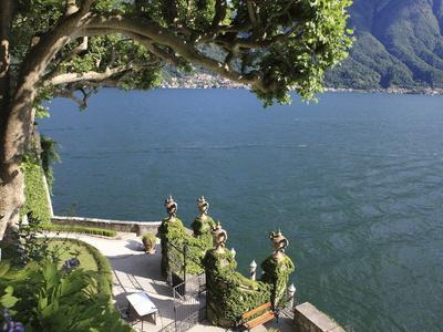 View From Villa Balbianello, Lenno, Lake Como, Lombardy, Italy, Europe
