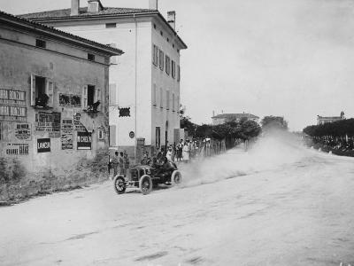 Vincenzo Trucco Driving a De Dietrich, in the Coupe Florio, Bologna, Italy, 1908--Photographic Print